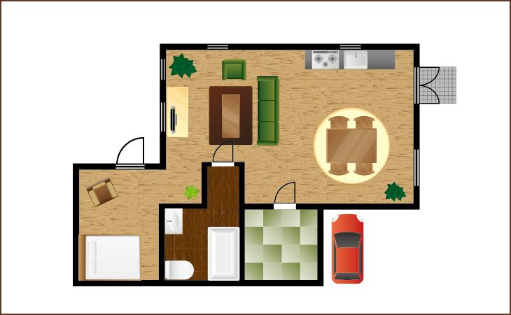 建築模型で家の間取りや職場の間取りを決められる